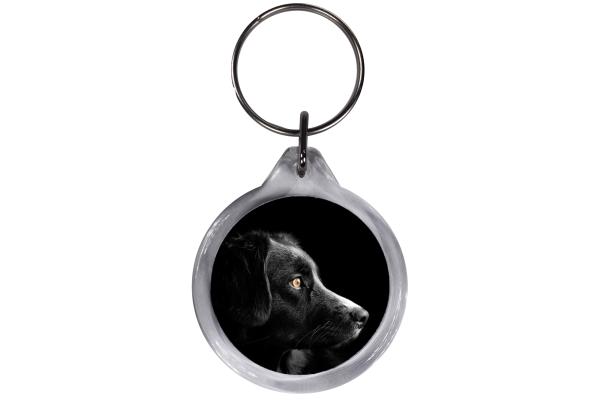 ResKey Schlüsselanhänger rund Hund beidseitig bedruckt