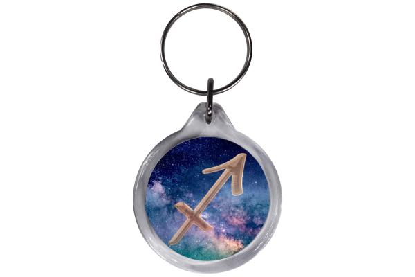 ResKey Schlüsselanhänger Schütze Sternzeichen  rund Astronomie