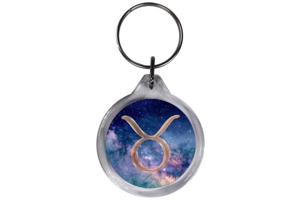 ResKey Schlüsselanhänger Stier Sternzeichen  rund Astronomie