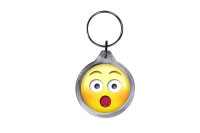 ResKey Schlüsselanhänger rund Emoji Emoticon Smiley Emojis beidseitig bedruckt
