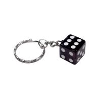 Würfel Schlüsselanhänger Transparent Glückswürfel Knobeln Glücksbringer Casino farbig