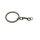 Schlüsselring Kette Schwarz Verbindungskette Schlüsselanhänger