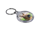 ResKey Schlüsselanhänger rund Hund Schäferhund beidseitig bedruckt