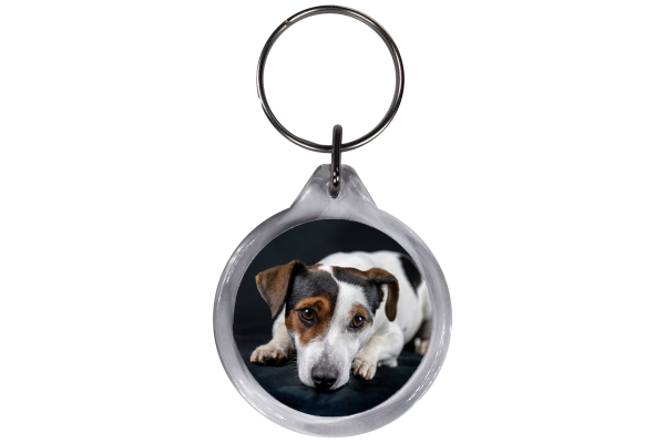 ResKey Schlüsselanhänger rund Hund Jack Russell beidseitig bedruckt