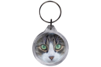 ResKey Schlüsselanhänger rund Katze Augen...
