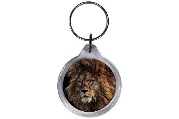 ResKey Schlüsselanhänger rund Löwe beidseitig bedruckt