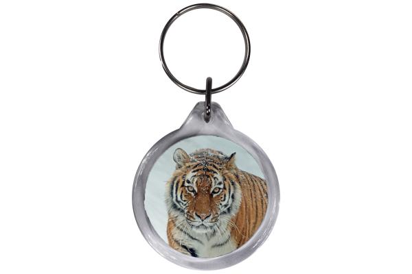 ResKey Schlüsselanhänger rund Tiger beidseitig bedruckt