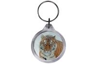 ResKey Schlüsselanhänger rund Tiger beidseitig...