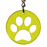 Hunde Schlüsselanhänger Pfote Hundepfote Transparent farbig Geschenkidee