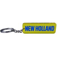 New Holland Trecker Traktor Schlüsselanhänger Emblem in Blau/Gelb