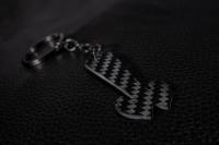 Einkaufswagenlöser aus Carbon Schlüsselanhänger, abziehbarer Einkaufswagenchip, Einkaufschip für Einkaufswagen