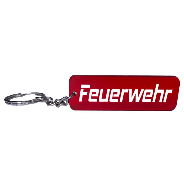 Feuerwehr Schlüsselanhänger in rot weiß