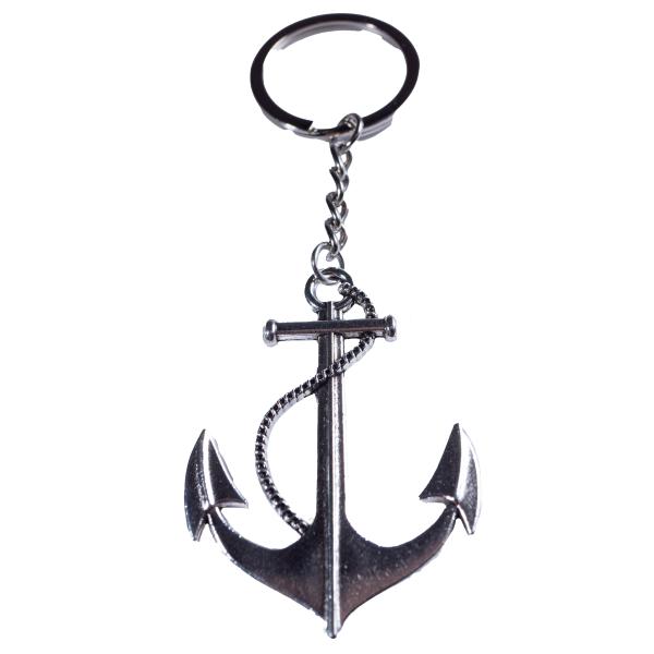 Anker Schlüsselanhänger silber aus Metall Taschenanhänger