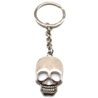 Totenkopf Schlüsselanhänger silber aus Metal...