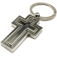 Kreuz Schlüsselanhänger silber aus Metall...