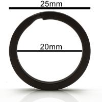 Reskey 20 Stück Schlüsselring schwarz Flach 25mm