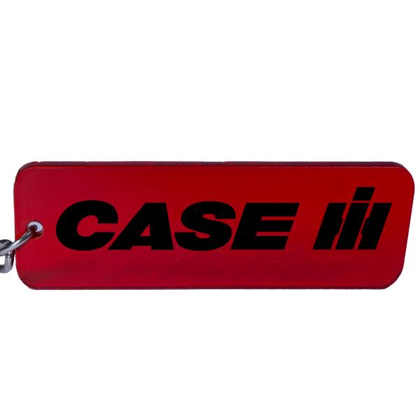 IHC Case IH Trecker Traktor Schlüsselanhänger Emblem in Rot/Schwarz