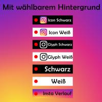Instagramm Schlüsselanhänger Name Wunschname personalisiert individuell anpassbar zweiseitig