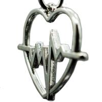 Herz Beat Schlüsselanhänger aus metall Herzforml Taschenanhänger