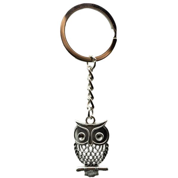 Eule Schlüsselanhänger aus Metall Taschenanhänger