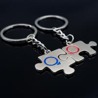 Partner Schlüsselanhänger aus metall Puzzle...