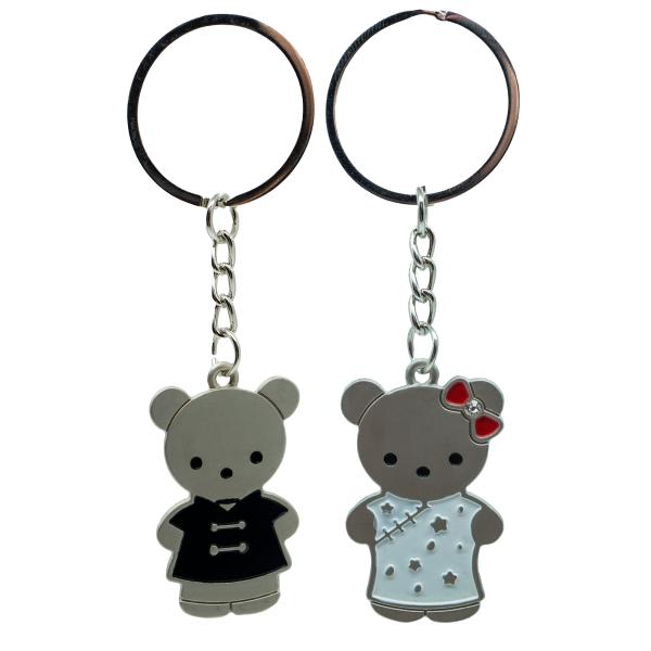Partner Bärchen Schlüsselanhänger aus metall Bär Teddy