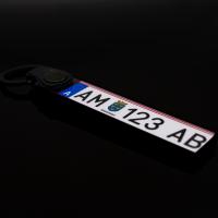 KFZ Kennzeichen Österreich Schlüsselanhänger personalisiert individuell anpassbar zweiseitig