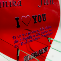 Personalisirtes Deko Herz Geschenk zum Muttertag mit...