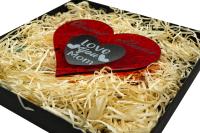 Personalisirtes Deko Herz Geschenk zum Muttertag mit  Gravur Wunschtext Vatertag Jahrestag Hochzeit