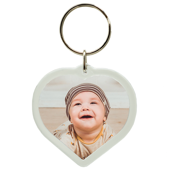 Herz Foto Schlüsselanhänger personalisiert individuell mit Wunschfoto Wunschbild oder Text Geschenk Geschenkidee