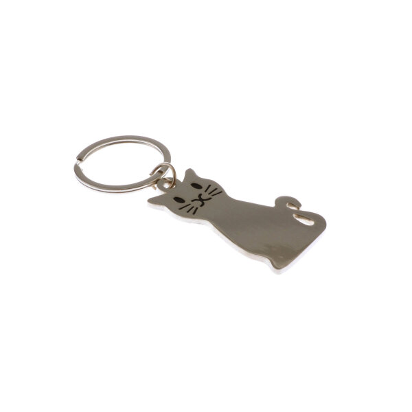 Katzen Schlüsselanhänger aus Metall Taschenanhänger