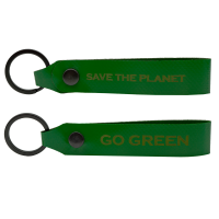 GO GREEN - safe the planet Schlüsselanhänger...